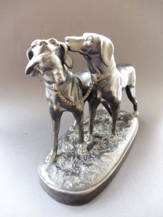 Jugendstil Jagd Hund Hunter Keramik Figur Black Forest Dog Art Nouveau Wmf Hjk Bild