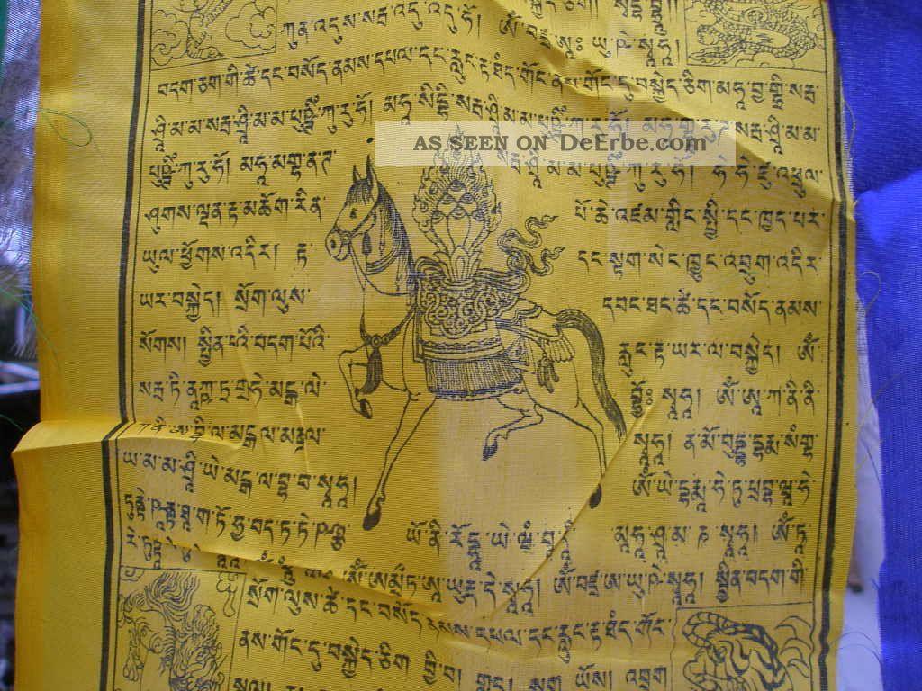 1 Rolle Tibetischer Gebetsfahnen Nepal Silk Ca.  20 - 21cm Entstehungszeit nach 1945 Bild