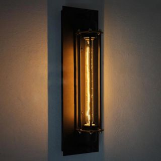 Retro Industrie Tube - Käfig Wandlampe Loft Beleuchtung Inkl.  Leuchtmittel Bild