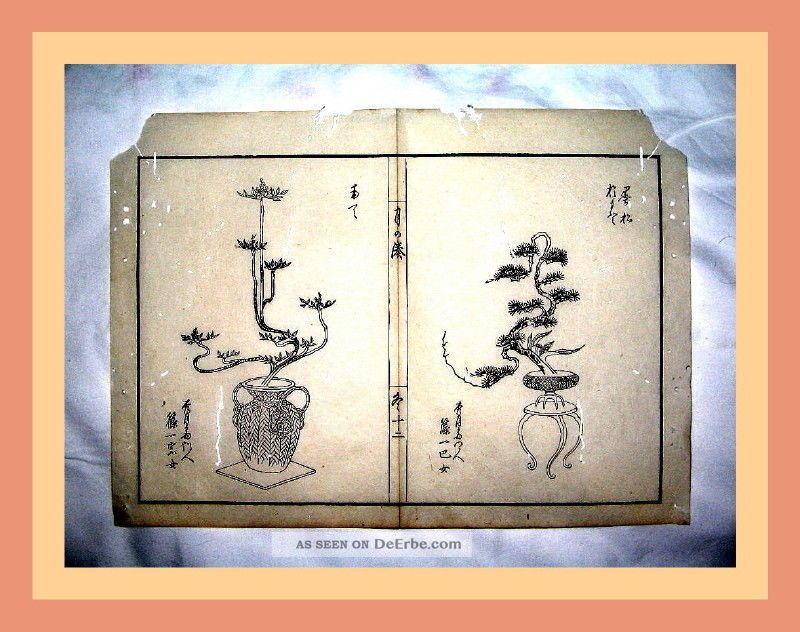 2 Japanische Holzschnitte,  Tokugawa - Schogunat,  Reis - Papier,  Ikebana - Kunst,  Um1600 Asiatika: Japan Bild