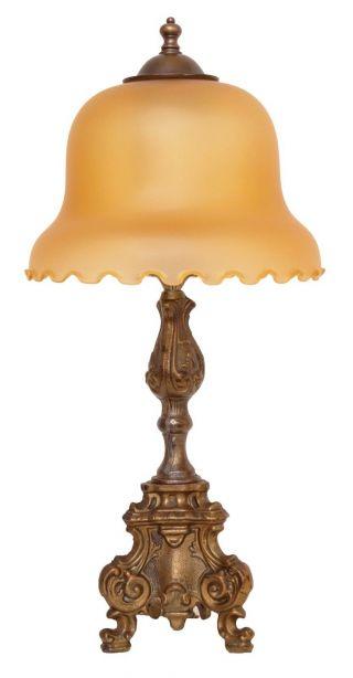 Tolle Jugendstil Schreibtischleuchte Tischlampe Lampe 1920 Messing Bild