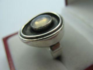 Kay Hamburg Sehr Schöner Mondstein Designer Ring Aus 835 Silber Bild