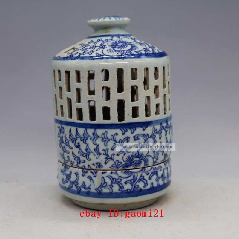 Blue And White Aromatherapy Censer,  Lantern Shape Porcelain Vase Ab 2000 Bild