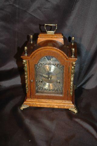 Warmink Wuba,  Tischuhr,  Kaminuhr,  Bracket Clock,  Sammleruhr,  Mondphase Bild
