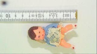 Alte German Vintage Puppe (sammlerpuppe) Mit Haartolle Celluloidpuppe Bild
