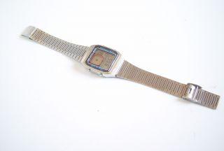 Vintage Anker Lcd Quartz Uhr Armband Uhr Watch Digital Edelstahl Bild