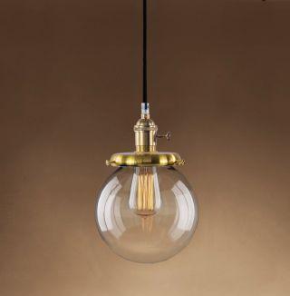 Retro Vintage Hanging - Globe Hängeleuchte Pendellampe Inkl.  Leuchtmittel Bild