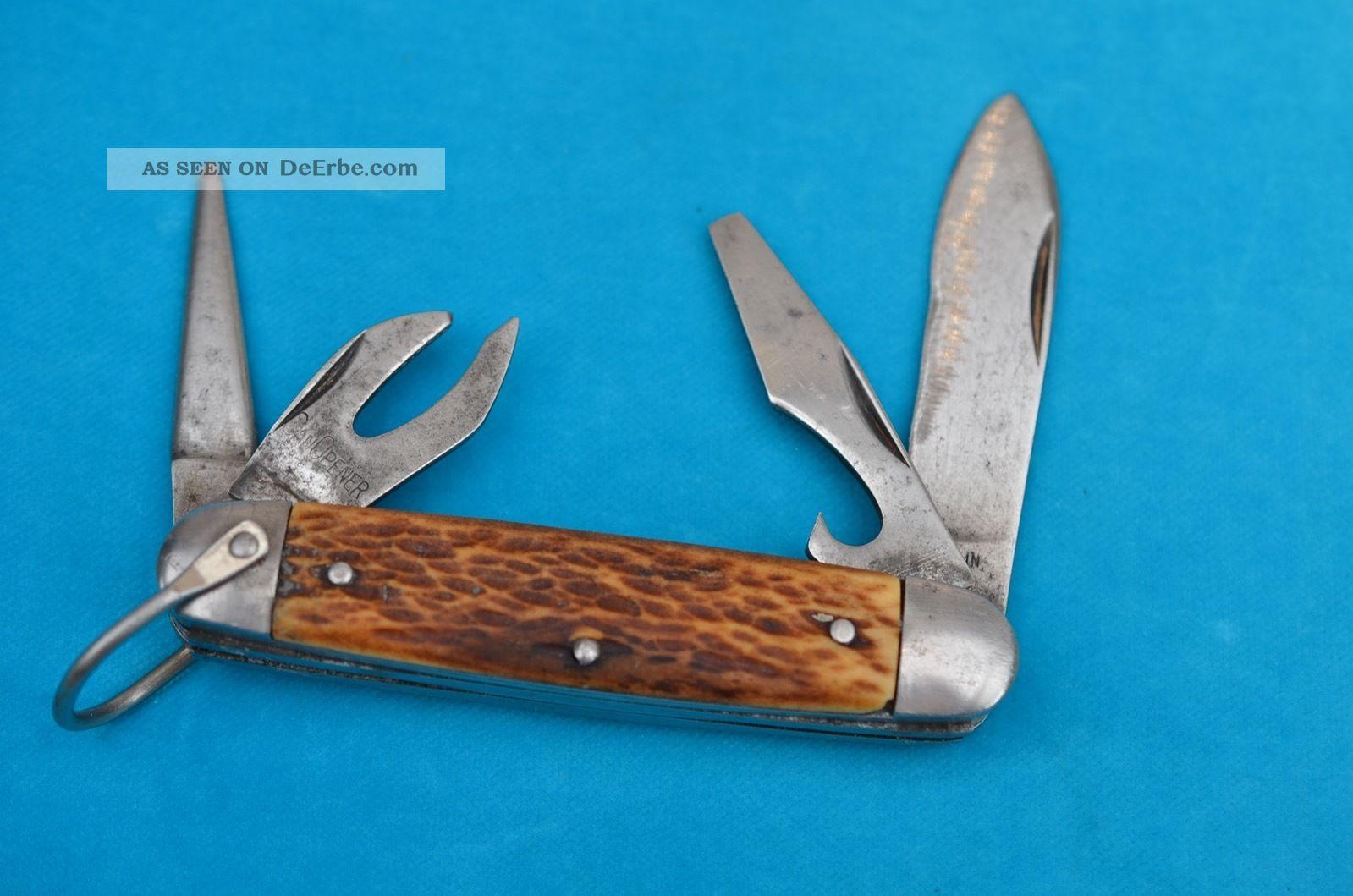 Altes Amerikanisches Vielzweck Taschenmesser Jagd & Fischen Bild