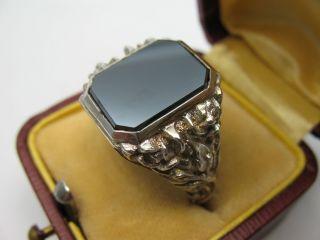 Sehr Schöner Stabiler Alter Siegelring Aus 835 Silber Mit Pyrit Bild