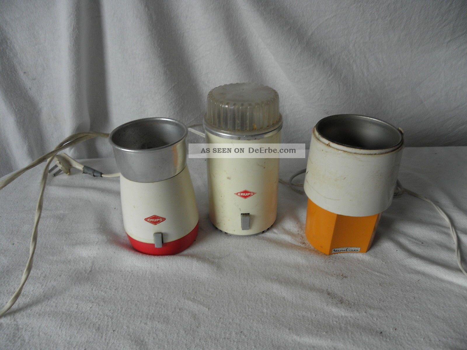 Konvolut Drei Elektrische Kaffeemühlen Krups,  Krups Und Moulinex Haushalt Bild