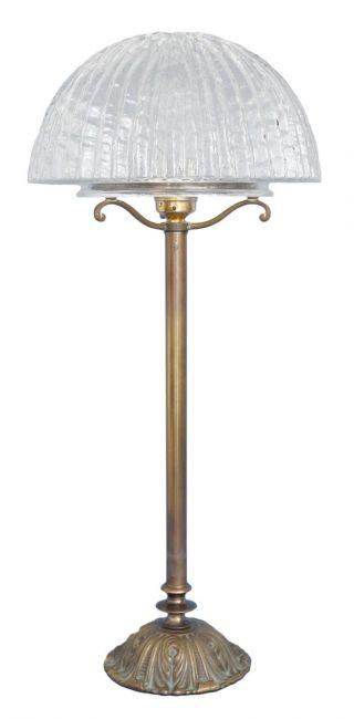 Elegante Jugendstil Schreibtischlampe Tischleuchte Leuchte Messing Bild