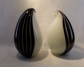 Seltenes Pinguin Paar Murano Glas Livio Seguso 60/70er Jahre Signiert Bild