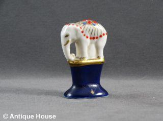 Gluttöter Porzellan Elefant Glutlöscher Kobaltblau Bild