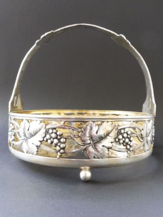 Florale Jugendstil Jadiniere Vergoldet Art Nouveau Grape Trauben Wmf Or Argentor Bild