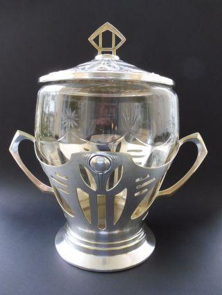 Große Jugendstil Bowle Bowl Art Nouveau Ornament Kristall Glas Wmf Or Orivit ? Bild