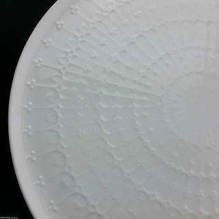 Ak Kaiser Kuchenplatte Tortenplatte Porzellan Rund Weiß Relief Ø 30,  5cm Zeitlos Bild