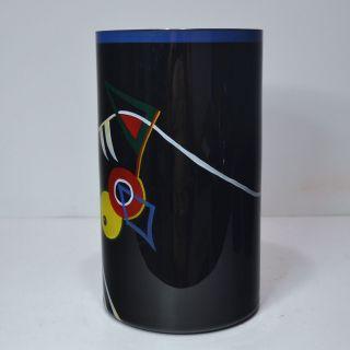 Künstler Zylinder - Vase Entw.  Werner Liebl Für Glashütte Eisch 1992 26/170 Bild