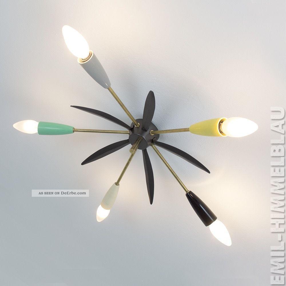 Sputnik 5 - Armig Decken Pendel Lampe 50er Bakelit Spinne Rockabilly Vintage 1950-1959 Bild