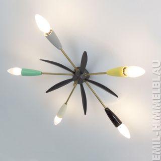 Sputnik 5 - Armig Decken Pendel Lampe 50er Bakelit Spinne Rockabilly Vintage Bild