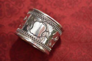 Alter Antiker Schön Verzierter Serviettenring Silber 800 Um 1860/1870 Bild