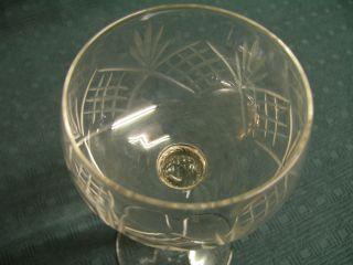 Weingläser Römer 6 Stück Bleikristall Mit Kerbschliff Aus Nachlass Bild