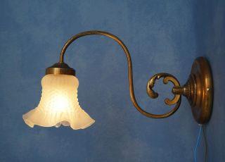 Sehr Schöne Jugendstil Wandleuchte Wandlampe Messing 1920 Bild