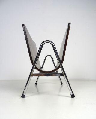 Art Deco ZeitungsstÄnder Design Zeitschriften Halter Chrom & Palisander Bauhaus Bild