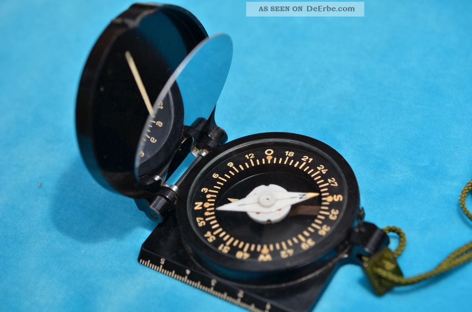 Ddr Freiberger Präzisionsmechanik Marschkompass Spiegelkompass Technik & Instrumente Bild