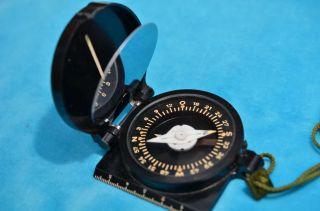 Ddr Freiberger Präzisionsmechanik Marschkompass Spiegelkompass Bild