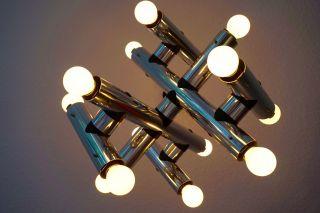 Edle Chrom Sputnik Objekt Industrie Design Lampe 14 Birnen Orbit Panton 70er Bild