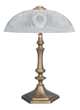 Herrliche Jugendstil Schreibtischlampe Tischleuchte Leuchte Messing Bild