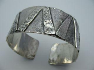 Handarbeit Große Wunderschöne Massive Designer Armspange Aus 800 Silber Bild