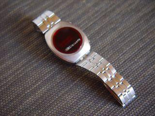 70´s °mbo Armband Uhr Led Men`s Stainless Steel Bracelet Bild