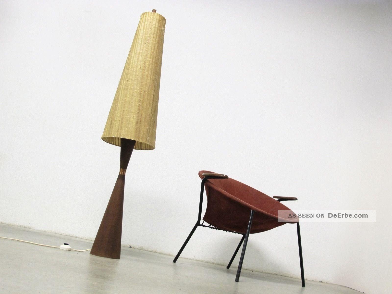 50s Teak Diabolo Floor Lamp Midcentury Stehlampe Fog Morup Denmark Danish