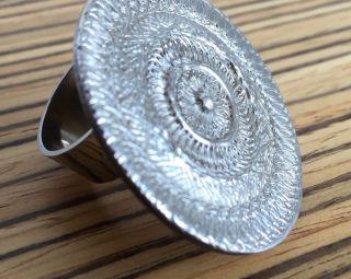 Künstler Ring Albert Sous Sign.  Sonnenscheibe Ringgröße Ca.  56 Ø 18 Mm Bild