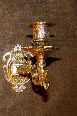 Klavierleuchter Antik Wandkerzenhalter Messing Wandkerzenständer Kerzenleuchter Bild