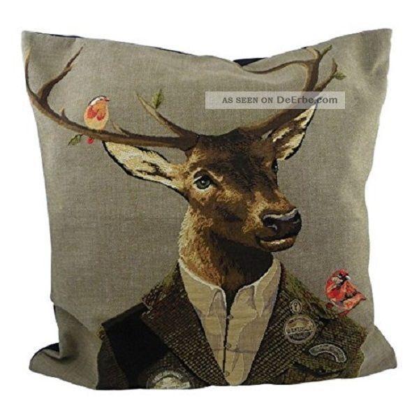 Gobelin Kissen Rotwildjäger Dekokissen Hirsch Jäger Jagd Deer Hunt Jagd & Fischen Bild