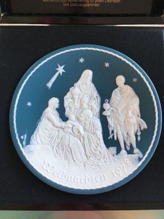 Villeroy & Boch Weihnachtsteller 1978,  Die Heiligen Drei Könige,  Vitrinenware Bild