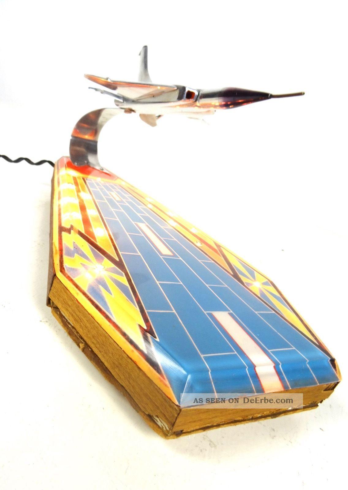 Seltenheit Space Age Lampe Flugzeug 70er Vintage Tischlampe 60er Luftfahrt Lamp 1970-1979 Bild