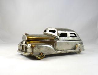 Sehr Seltene Art Deco Geheim Versteck Streamline Auto Dose Chrom Schatulle Bild