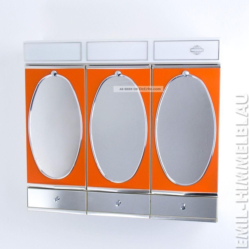 Spiegelschrank Badspiegel 70er Orange Spiegel Vintage Mirror Panton 1970-1979 Bild