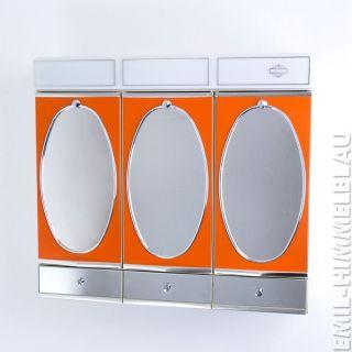 Spiegelschrank Badspiegel 70er Orange Spiegel Vintage Mirror Panton Bild