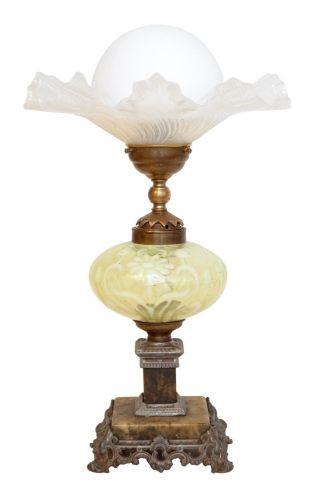 Wunderschöne Jugendstil Tischlampe Um 1900 Petroleumlampe. Bild