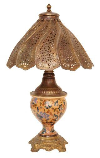 Sammlerstück Jugendstil Amphoren Tischleuchte Orientexpress Schreibtischlampe Bild