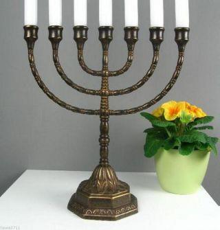 Menora Kerzenleuchter Antik Kerzenständer Tischleuchter Messing Davidleuchter Bild