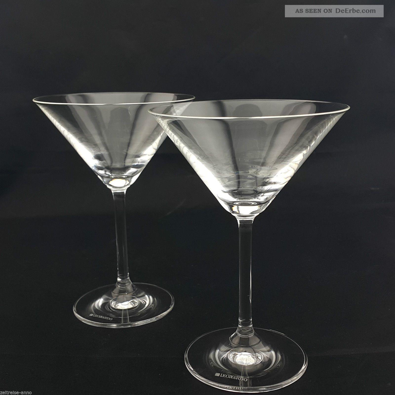Paar Leonardo Cocktailgläser Aperitifgläser Kristall Neuwertig Kristall Bild