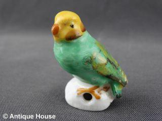 Alter Tropfenfänger Porzellan Vogel Papagei Dripcatcher Thüringen Modell 1703 Bild