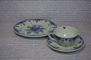 Delf Delfts Blau Regina Kaffeegeschirr Teegeschirr Teller Tasse Unterasse Bild