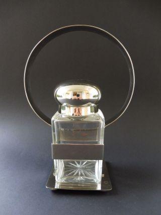 : Art Deco Design Kristallglas Deckeldose Teedose Tea Box Crystal In Montierung Bild