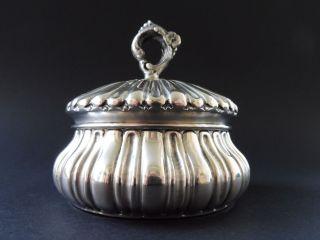 800 Silber Jugendstil Zuckerdose Floral Knauf Art Nouveau Sugar Bowl Box Flower Bild